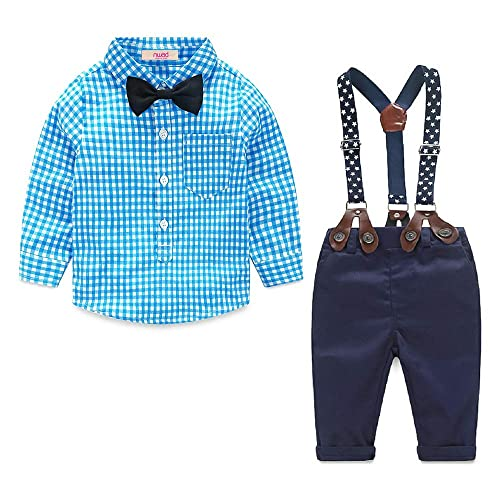 YALLET Baby Suits for Boys Bow Ties Shirts /& Suspenders Pants Toddler Boy Gentleman Outfits Suits for Kids 1-7T