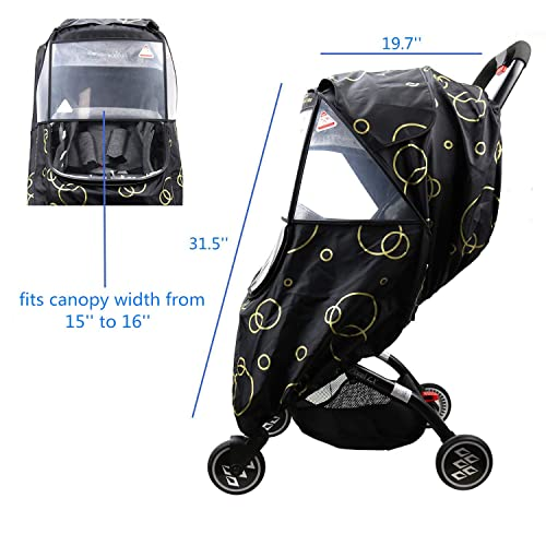 Provides Extra Warmth and Shields your Child from Wind and Rain Mesh Material for Ventilation and Reflective Trimming for Night Visibility. Universal Size White, Quilted Baby Stroller Rain Cover