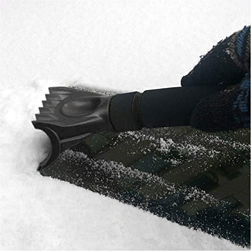Waterproof Ice Scraper with Separable Glove for Vehicle Car Ice Shovel Snow Remover Windshield Window from Scrape Frost and Ice CrazyPiercing Ice Scraper Mitt Red