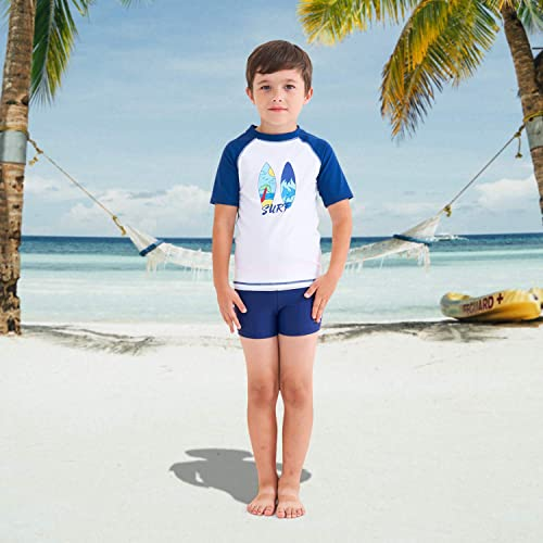 HowJoJo Boys Short Sleeve Rash Guard Shirts Swim Shirt UPF 50+