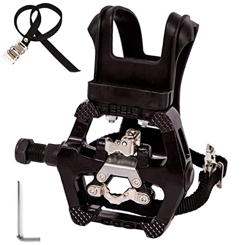 New Exercise Bike a.. NAMUCUO Bike Pedals with Clips and Straps for Spin Bike