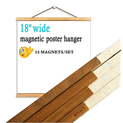 Buy Kihaco Poster Frame 18x24 Magnetic Poster Hanger Wood Picture Frames 18 X 24 Inches Wall Picture Hangers Wooden Frame With Strong Magnet For Hanging Posters Artworks Pictures Prints Map Teak 1