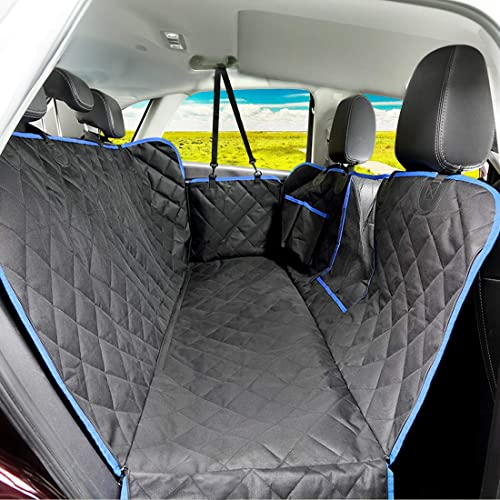 Nonslip /& Hammock /& Washable Pet Car Seat Cover with Side Flaps /& Seat Belt Trucks brown SUVs Pet Cargo Liner for Cars 100/% Waterproof Car Back Seat Protector Knodel Dog Car Seat Cover