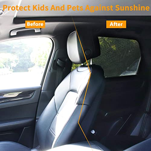 with Travel E-Book 2 Pack Universal Breathable Mesh Car Rear Side Window Sun Shield Peyou Car Window Shade for Baby, Fit Most Cars Protect Your Baby//Kids//Pet from Suns Heat UV Rays