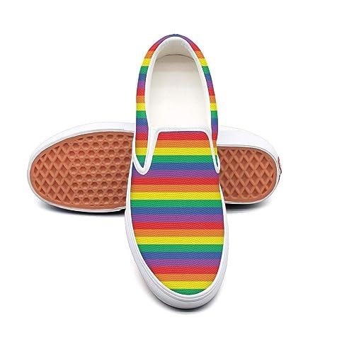 MADSURE LGBT Pride Rainbow Flag Mens Leisure Sports Running Sneakers