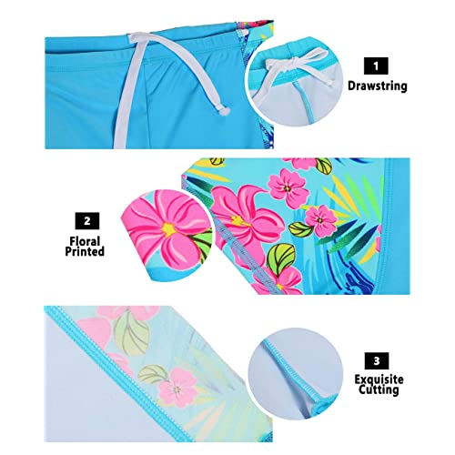 iDrawl Kids Two Piece Swimsuits Set Short Sleeves Swimwear Boys Girls Bathing Suit Rash Guard Sets UPF 50+