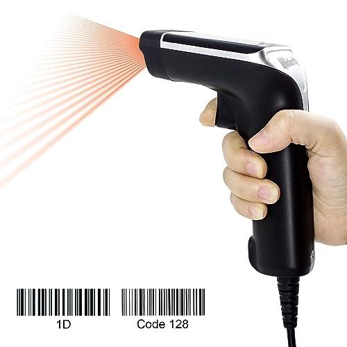 Scanner de Code-Barres sans Fil,Trohestar N2 sans Fil Scanner de Code /à Barres 1D Portable Code /à Barre Lecteur Mini Filaire Et sans Fil Scanner Code /à Barre avec LCD /Écran Afficher