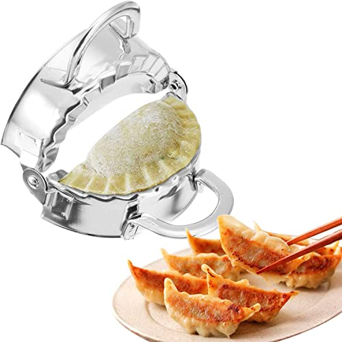 Stainless Steel Dumpling Maker Fast Double Dumpling Mold with Wonton Ravioli Dumpling Wrapper Dough Presser Pelmeni Jiaozi Kitchen Gadget Tool Lager Size 3.35 Inch