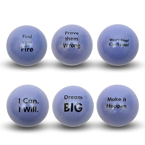 Anxiety Pure Origins/® |Keep Calm Funny Motivational Stress Balls ADHD Squeeze Ball Gift 4 Pack Autism and Team Building Fidget Accessory for Stress Relief Motivation Concentration