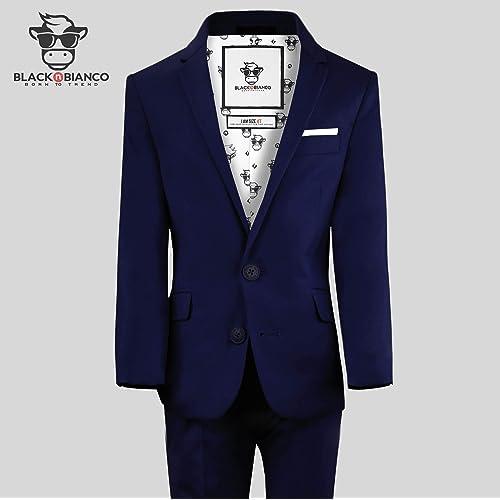 Yanlu Boys Formal Suits Silm Fit Dresswear Boy Suit with Blazer Pants Shirt and Bow Tie