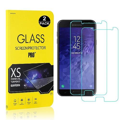 UNEXTATI Premium HD Anti Scratch Tempered Glass Screen Protector Film for Samsung Galaxy J7 Duo Galaxy J7 Duo Screen Protector 3 Pack