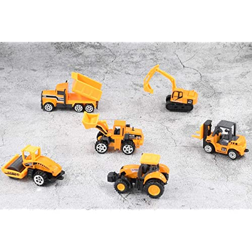 Forklift, Cltoyvers 6 Pcs Mini Metal Construction Vehicle Toys Set Kids