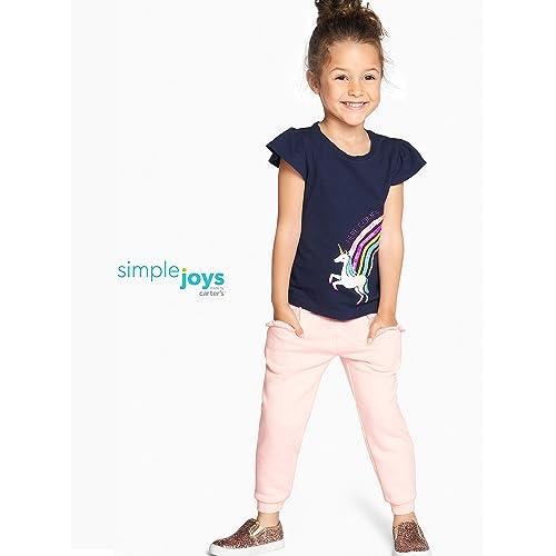 2T Carters Girls Pull-On Fleece Pants; Pink