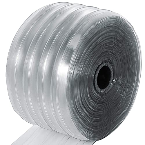 Gaskets and Strip Curtains PVC Vinyl Strip Curtain Door Bulk Roll 75 Roll 6 x .06 Clear Smooth PVC Material