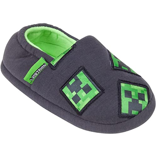 Minecraft Surrounded Boy/'s Blue Slippers Sizes from 11 UK Kids to 3 UK