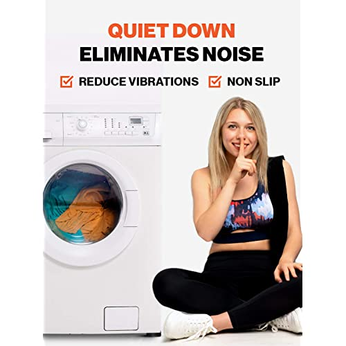 New SlipToGrip Washer Dryer QUIET//NO VIBRATION Pads with Stainless Insert Never Wears Out 4 Pack Patent Pending Anti Slip Washing Pads