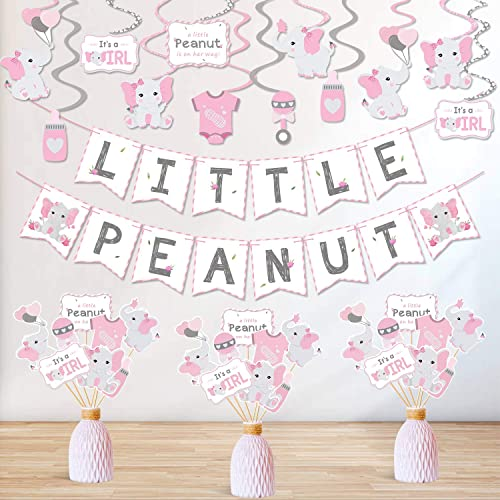 12 ~ Party Supplies Pink BABY SHOWER Sweet Floral HANGING SWIRL DECORATIONS