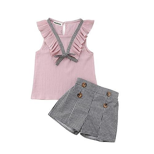 UK Toddler Baby Girls Off Shoulder Sunflower Tops+Skirt Pantskirt Outfits 6M-4T