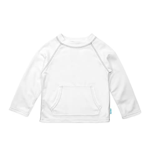White by green sprouts Baby Breatheasy Sun Protection Shirt 6//12mo i play