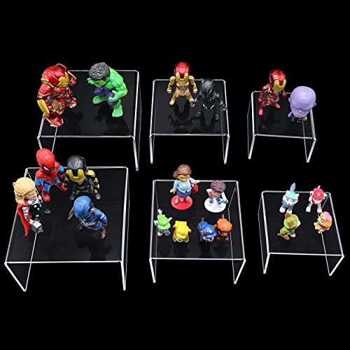 TOUGS 1 Set Acrylic Risers Display for Funko Pop Figures Clear Cake Stands for Candy Dessert Table Decorations-3x4x5