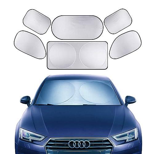 Made in USA 2019 Accessories Heat Automation Custom-Fit -Hand Made- UV Reflector Compatible with Alfa Romeo Stelvio 2020 TOUGHPRO Windshield 2018 Block UV Rays - Sun Shade
