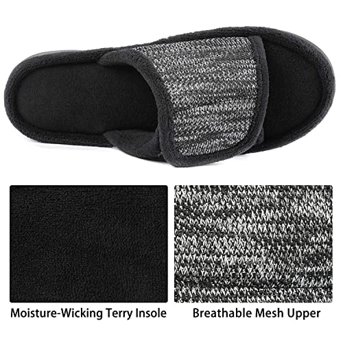 RockDove Mens Adjustable Wrap Memory Foam Slide