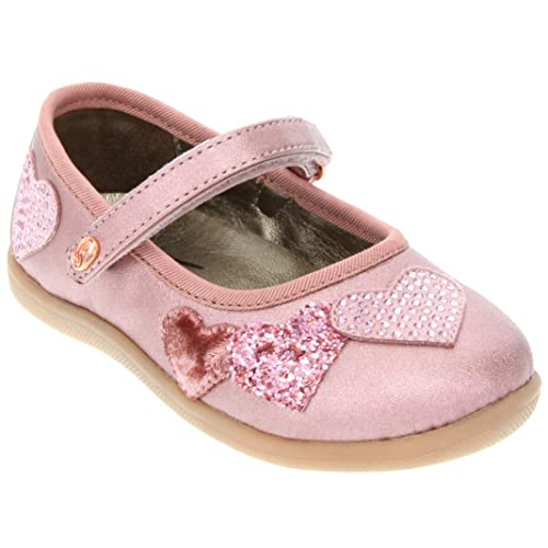 Subibaja Emma Little Girls Mary Jane Dress Flat Shoes with Adjustable Straps for Toddlers