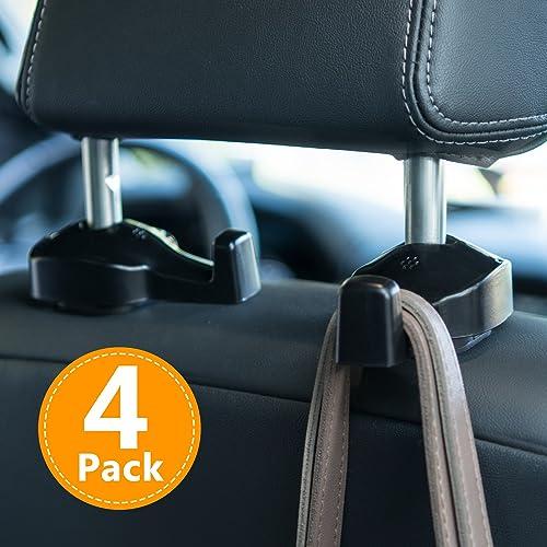 2X Vehicle Universal Car Back Seat Headrest Hanger Holder Hook for Bag Purse