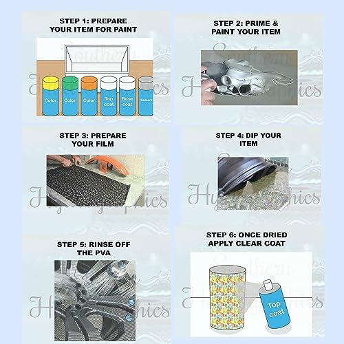 Hydrographics Film Water Transfer Printing Film Hydro Dipping Dip Film Hydrographic Film Floral C Dip Kit 6oz Activator /& Linear Meter Hydro Film