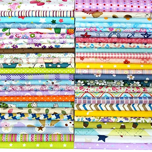 12x12 levylisa 25pcs Printed Cotton Quilting Fabric Assorted Craft Fabric Bundle Squares Patchwork Precut Fabric for DIY Craft Embellishment Sewing Scrapbooking Quilting