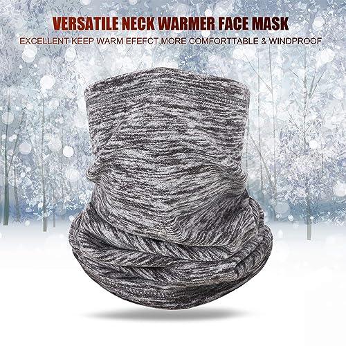3 Pieces Polar Fleece Neck Warmer Winter Windproof Neck Gaiter Ski Face Mask