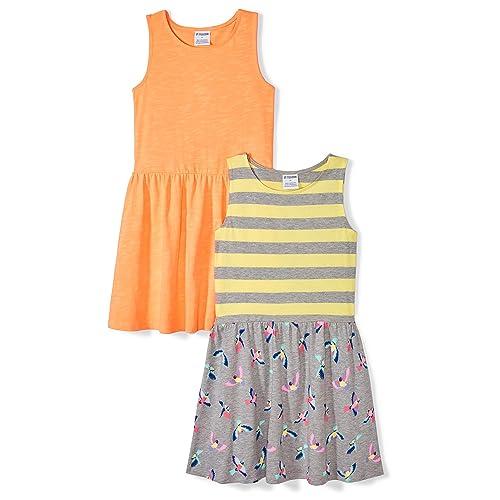 Spotted Zebra Girls 2-Pack Knit Sleeveless Knot Shoulder Dresses