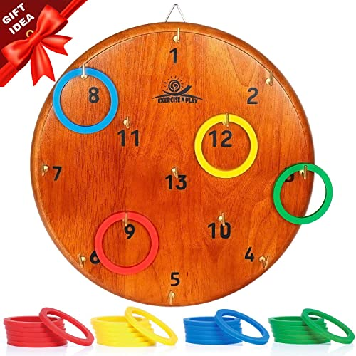Carnival Games and Kids Party Games Camping Games 4 Player Ring Toss Games for Adults and Outdoor Games for Kids Hook and Ring Game for Yard Games moovgruv Hookey Toss Ring Toss Game