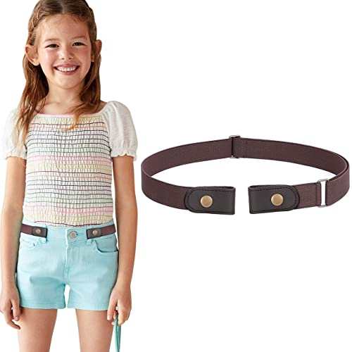 Rusoji 5pc Girls Mixed Design Adjustable Elastic Belts with Easy Buckle Clasp