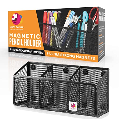 4 Packs Mesh Storage Baskets with Magnets to Hold Whiteboard//Refrigerator//Locker Accessories Magnetic Pencil Holder