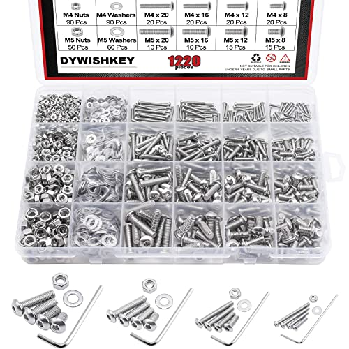 Zinc Phillips Head Machine Screws Over 1,800 Pieces Screw Assortment by National Bolt Tools Box with Dividers Phillips Short /& Long Bits Hardware Kit Includes Hex Nuts