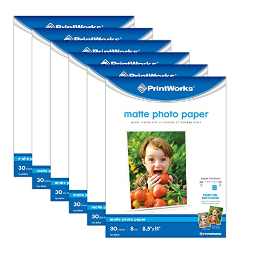 5x7 100 Sheets Premium Matte Bright White Inkjet DS Photo Paper 230gsm /…