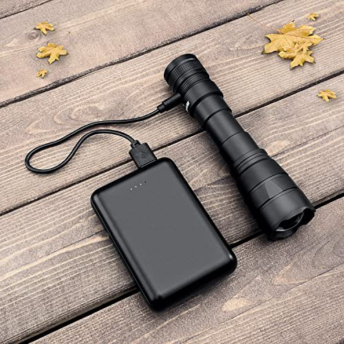 Revtronic Ultra Bright Rechargeable Flashlight USB Charging Waterproof Zoomable Super Powerful Lumens Cree LED Outdoor Tactical 4 Light Modes for Camping//Hiking//Emergency Adjustable Focus Zoom F30BUSB