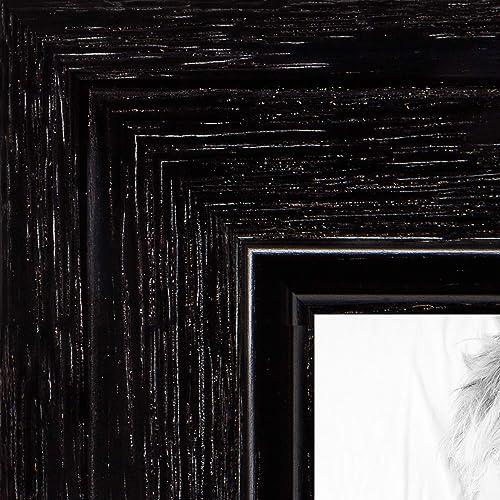 WOM0066-1343-YBLK-20x20 ArtToFrames 20x20 inch Black on Red Oak Wood Picture Frame