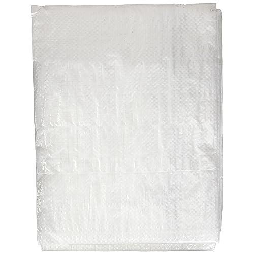 8 x 10 8/' x 10/' Erickson 57061 White Economy Grade Poly Tarp
