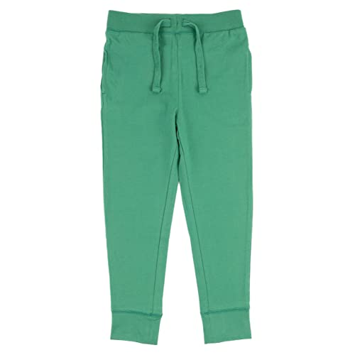 Leveret Boys Girls Cotton Green Legging Pants with Drawstrings Size 2-14 Years
