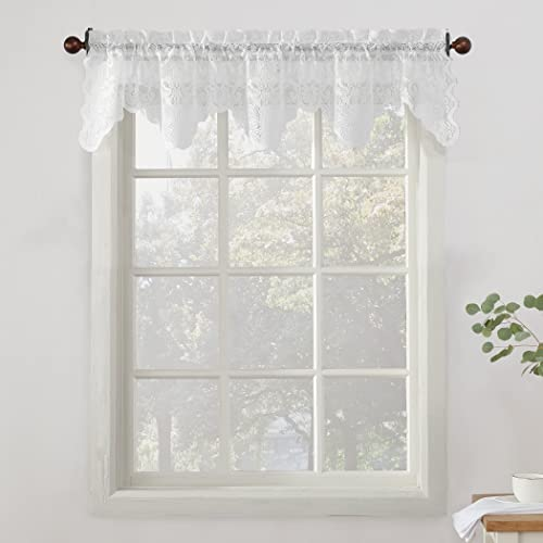 Linenzone Fiona Knitted Lace Valance