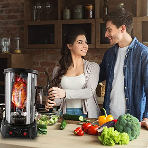 Nutri-Chef PKRTVG34 Vertical Rotisserie Oven Rotating Kebob Cooker