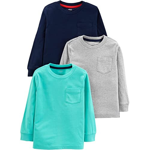 3T Gray Pink Navy Unicorn Simple Joys by Carters Baby Girls Toddler 3-Pack Graphic Tees