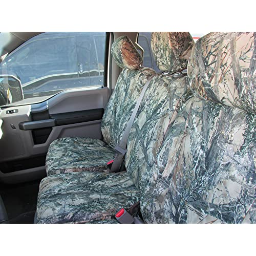 Durafit Seat Covers FD81 Seat Covers Made in MC2 Camo Endura for 2015-2018 Ford F150 2016-2018 F250-F550 Front and Rear Seat Cover Set.