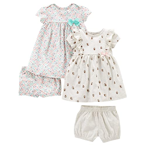 Simple Joys by Carters Baby Girls 2-Pack Long-Sleeve Dress Set with Bloomers