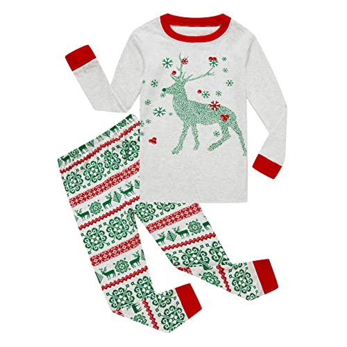 Family Feeling Little Boys Girls Red Stripe Christmas Pjs Cotton Pajama Sets