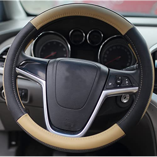 Mayco Bell Car Steering Wheel Cover 15 inch Comfort Durability Safety Beige