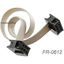 FR-5006 6 inch 50-Pin 2x25-Pin 2.54-Pitch Female 50-Wire IDC Flat Ribbon Cable