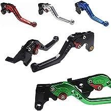 MZS Short Levers Adjustment Brake Clutch CNC for Honda CBF1000 2006-2009// VF750S Sabre 1982-1986// VFR750 1991-1997// VFR800 VFR800F 2002-2018// VTR1000F Firestorm 1998-2005 Red